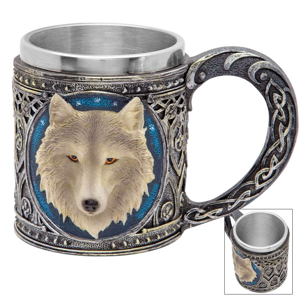 Call Of The Wild Fantasy Wolf 12 Oz Coffee Mug Tankard Budk Com