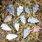 "Handcrafted Contemporary 1"" Jasper / Agate Arrowheads - 12-pack"