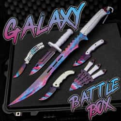 Galaxy Battle Box - Sword, knives, butterfly knife, throwing knives
