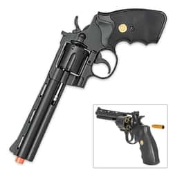 UK Arms Spring Revolver Airsoft Pistol - Black