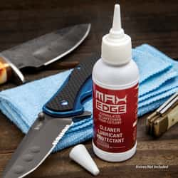 Max Edge CLP Knife Lube - Use With All Blades, Long-Lasting, Inhibits Rust, Lifts Residue, Won't Dry Out - 1.5 Oz