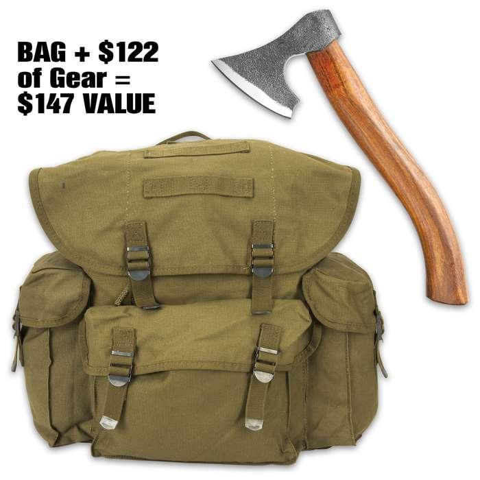 The Bushcrafter's Bug-Out Mystery Kit is an incredible deal on essential bushcraft tools including the Timber Wolf Viking Axe