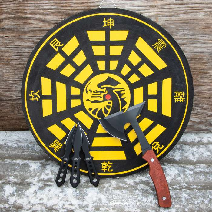 Our Throwing Axe and Knife Set has everything that you need for hours of throwing fun with your friends