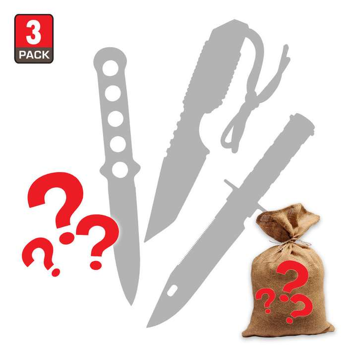 Mystery Deal - Fixed Blade Knives - Set of 3