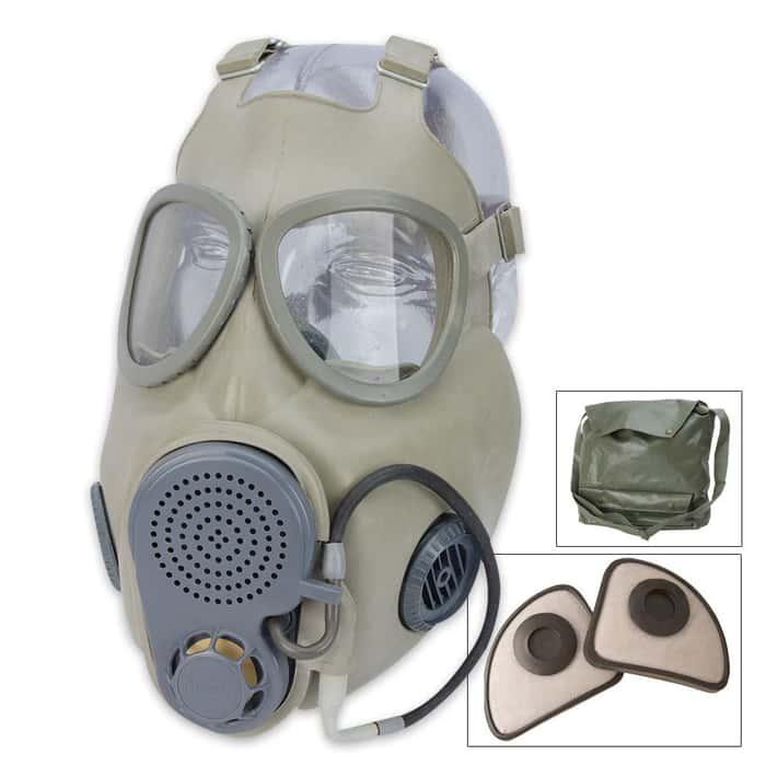 Military Surplus Czech M10M Gas Mask With Straw