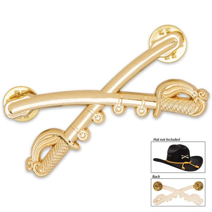 Gold Cavalry Hat Pin
