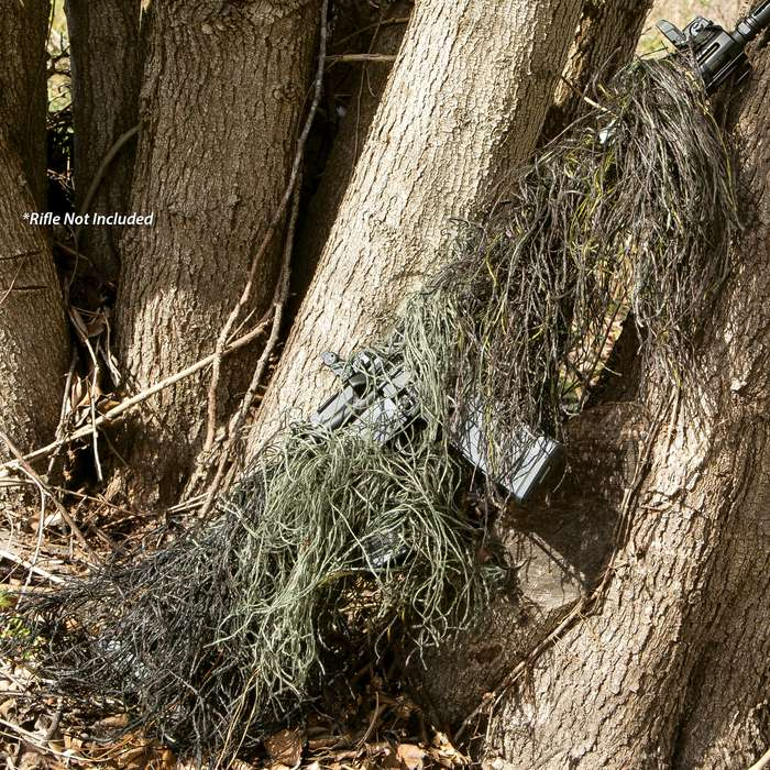 Ghillie Camouflage Gun Wrap - Mildew-Resistant, Fire-Retardant, Rot-Proof, Virtually Invisible - Length 4 1/2 Ft
