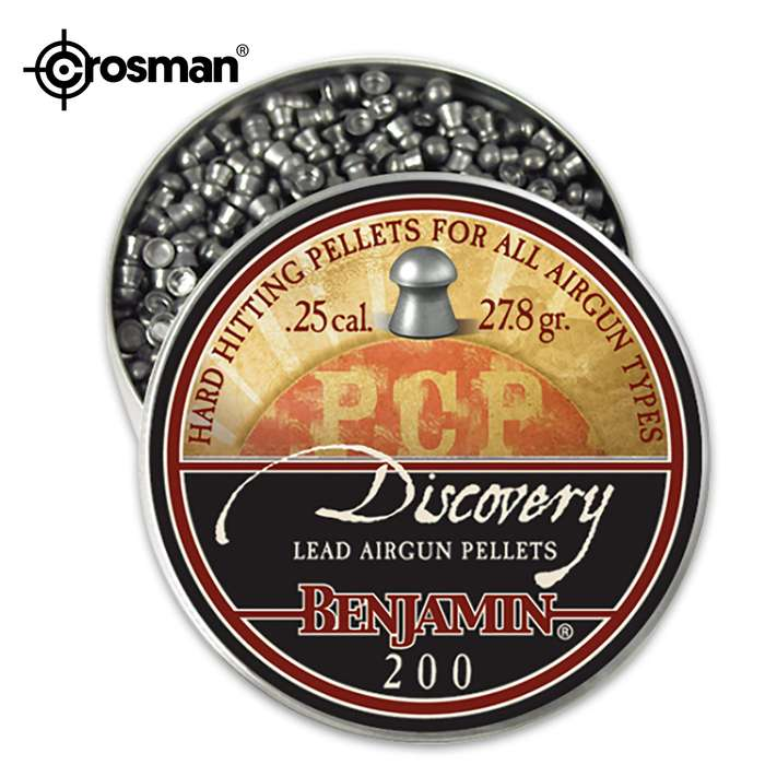 The Benjamin Discovery line offers premium, hard-hitting pellets for all air gun types