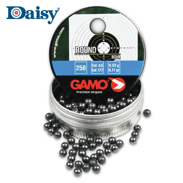 The Gamo Roundball .177 Caliber Pellets are designed for deep penetration and for field use in repeating airguns