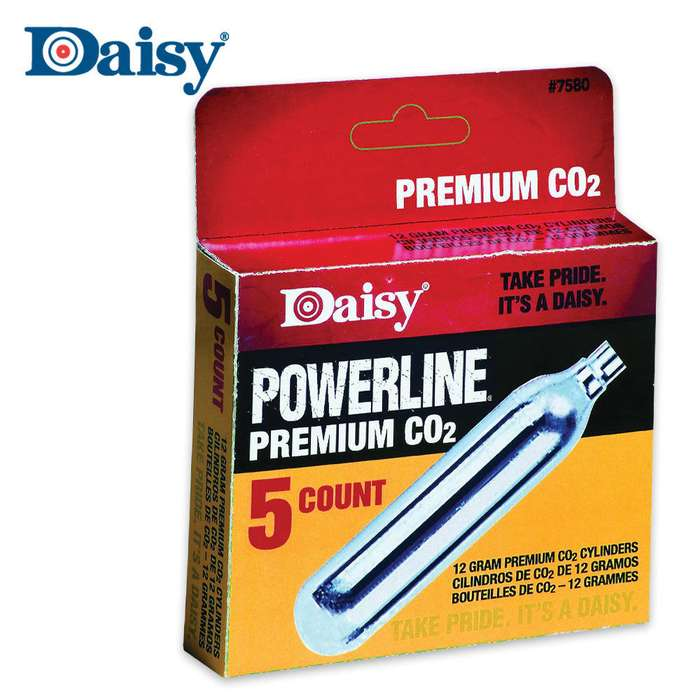 Daisy 5 Count CO2 Cylinders