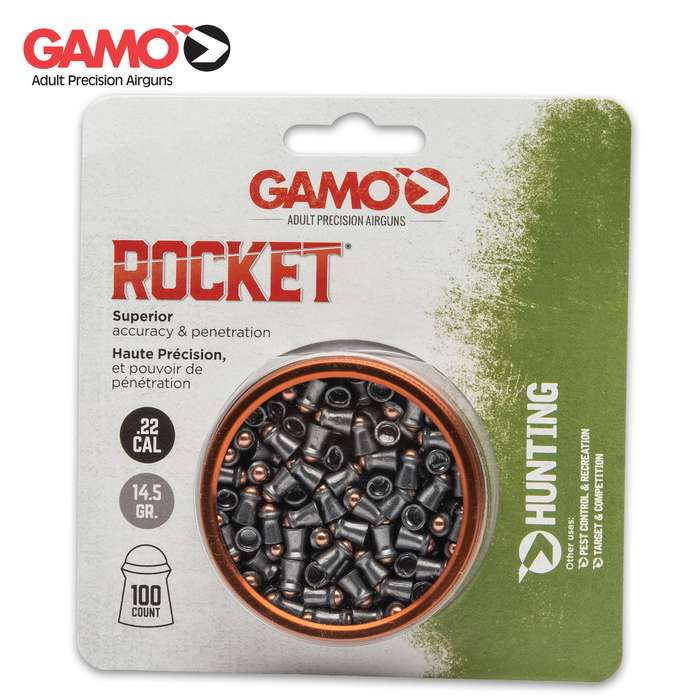 The pellets are made of performance lead with a hardened steel tip, and you get 100 in the tin