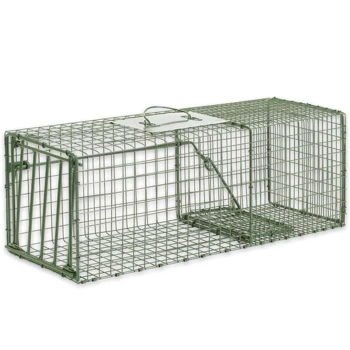 "Duke Heavy Duty Medium Animal Non-Lethal Cage Trap - Rabbits - 26"" x 9"" x 9"""