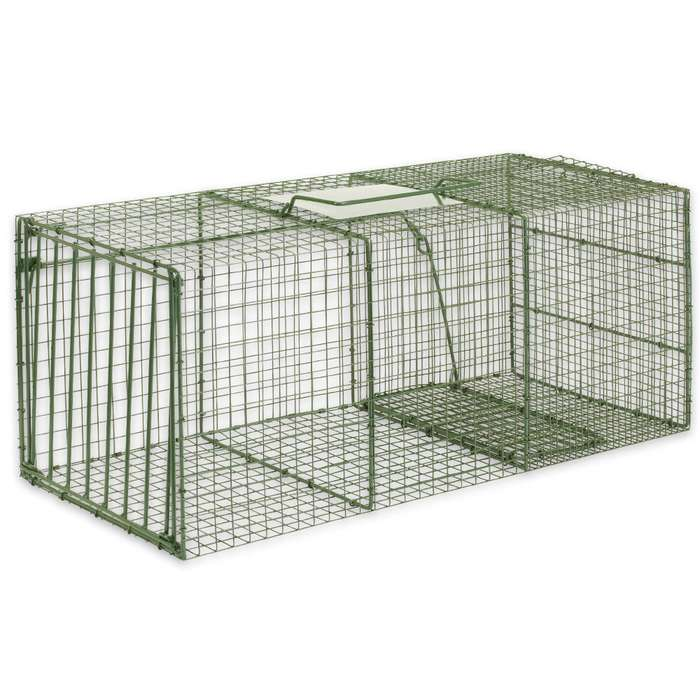 "Duke Heavy Duty XL Non-Lethal Cage Trap - 36"" x 15"" x 14"" - Foxes, Cats and More"