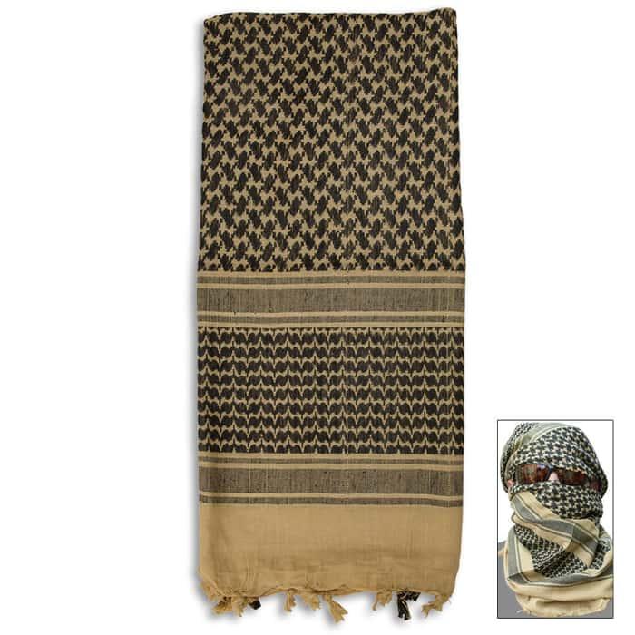 Desert Tan Tactical Shemagh Head Wrap Mask Airsoft