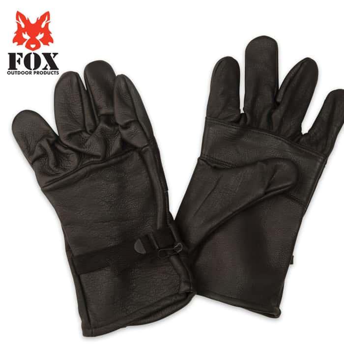 Fox D3A Leather Glove Shell Gen. II Black