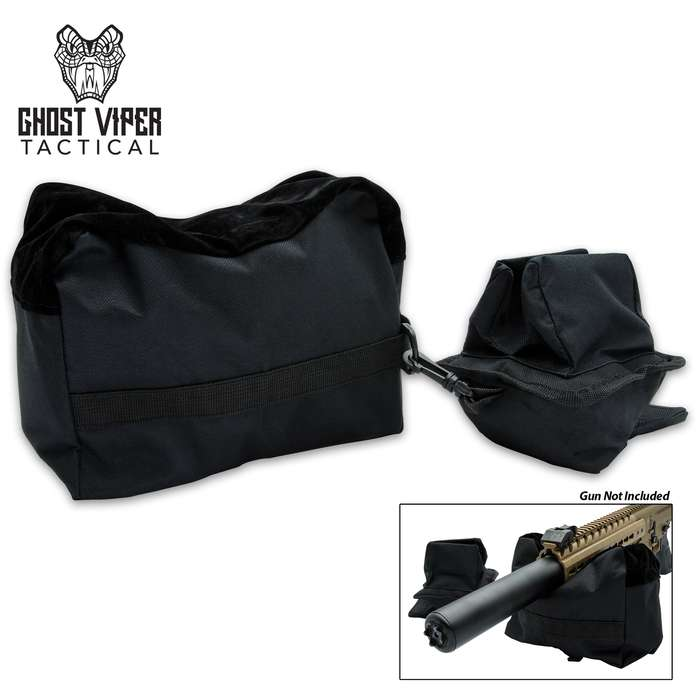 The Ghost Viper Tactical Black Gun Rest Bags are a must-have addition to your hunting and shooting gear