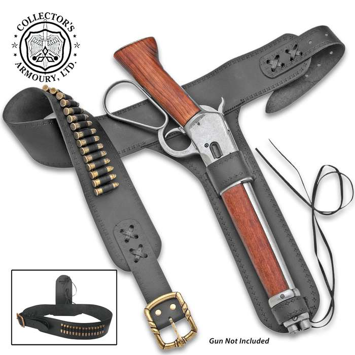 The custom-designed, Old West Mare's Leg Holster is made specifically for our Old West Mare's Leg Rifle Replica