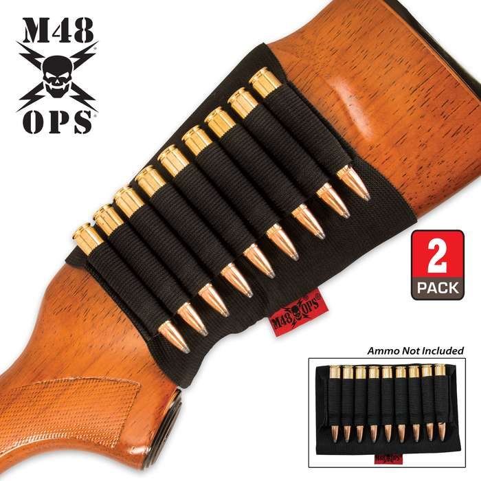 M48 OPS Butt Stock Rifle Shell Holder - Two Pack