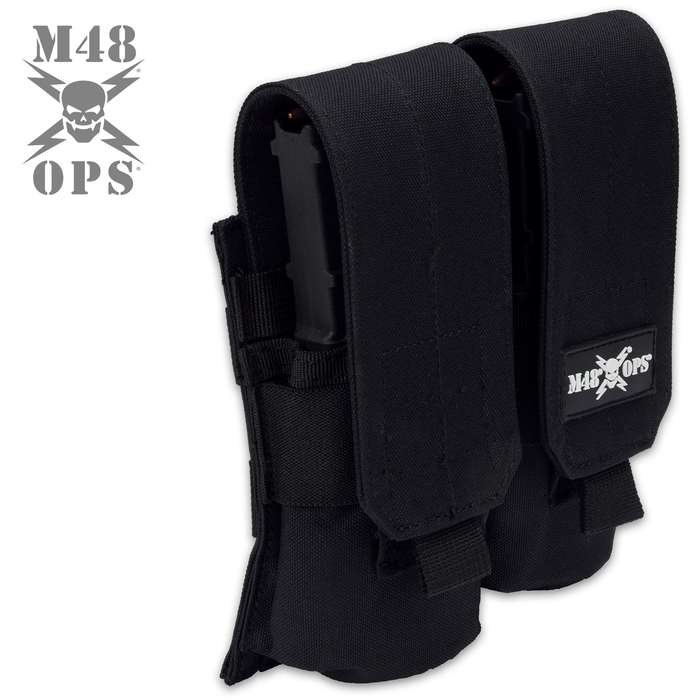 The M48 MOLLE Rifle Magazine Pouch will securely hold two magazines, so that they are readily accessible at your side