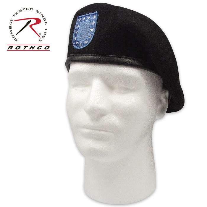 Inspection Ready Black Beret With Flash