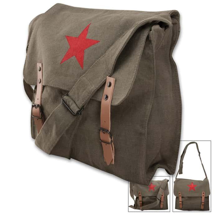 Rothco OD Messenger Bag with Red China Star