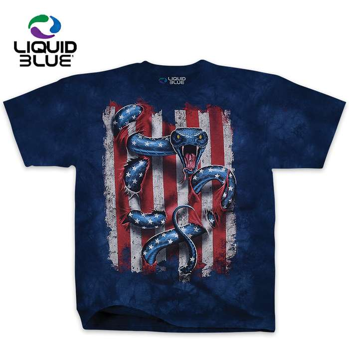American Serpent Blue Tie-Dye T-Shirt
