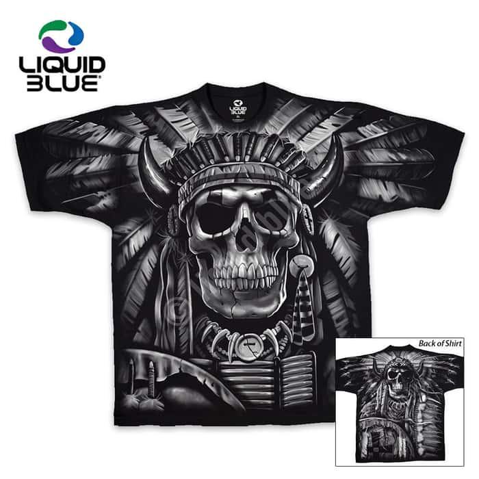 Indian Skull Short Sleeve T-shirt