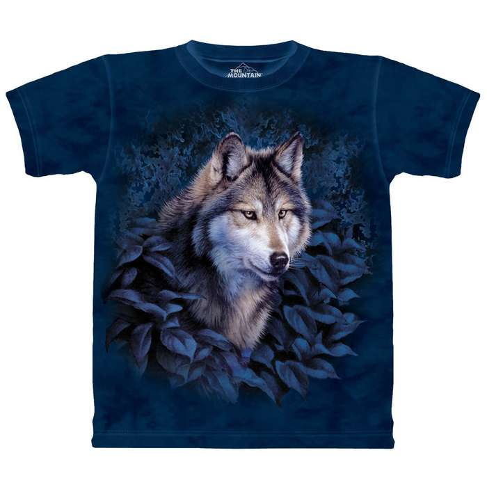 Wolf in Foliage Short Sleeve Shirt