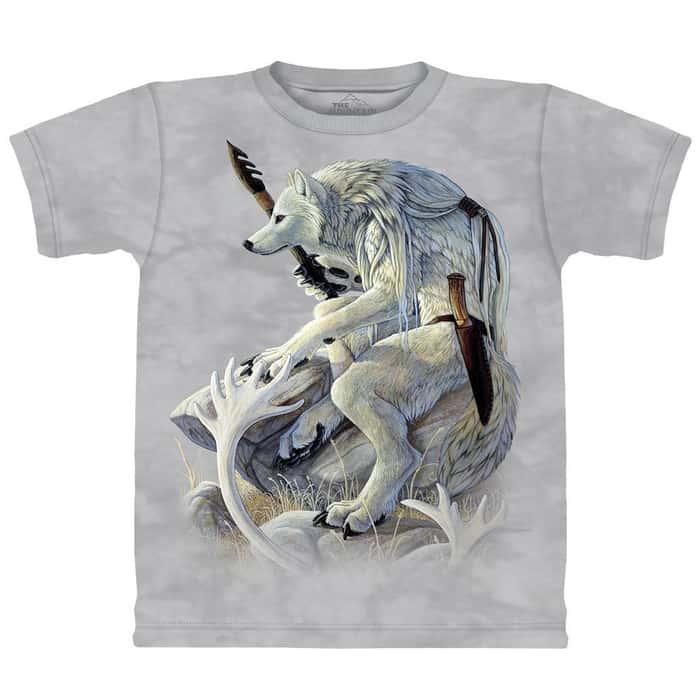 White Wolf Spirit Short Sleeve Shirt