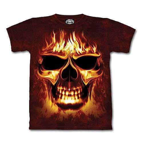 Skull Fire Short Sleeve Shirt