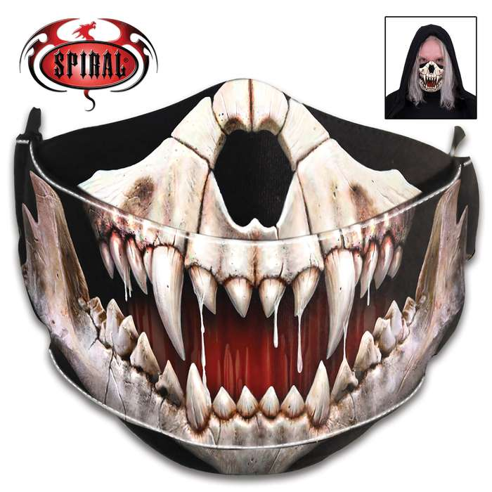 The reusable and washable Rock Jaw Fashion Face Mask is perfect for cycling, camping, workers and daily use