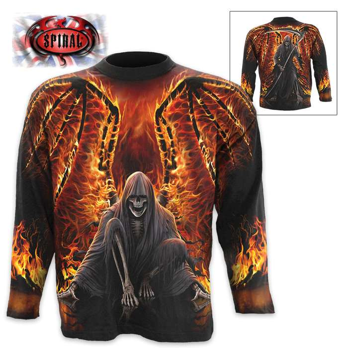 Flaming Death Wrap - Allover Long-Sleeve T-Shirt