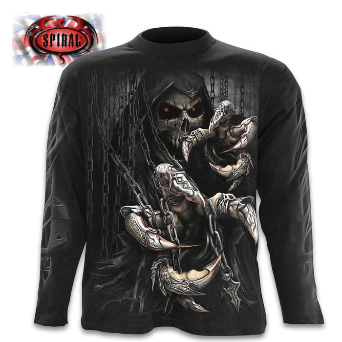 Death Claws Black Long-Sleeve T-Shirt - Top Quality 100 Percent Cotton, Original Artwork, Azo-Free Reactive Dyes