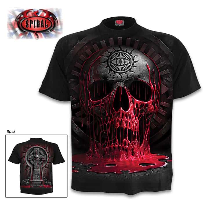 Bleeding Souls Black T-Shirt - Top Quality 100 Percent Cotton Jersey, Original Artwork, Azo-Free Reactive Dyes
