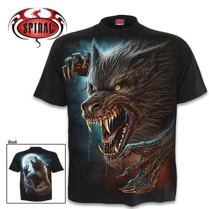 Wild Moon Black Short-Sleeved T-Shirt - Top Quality Cotton Jersey Material, Azo-Free Reactive Dyes, Original Artwork