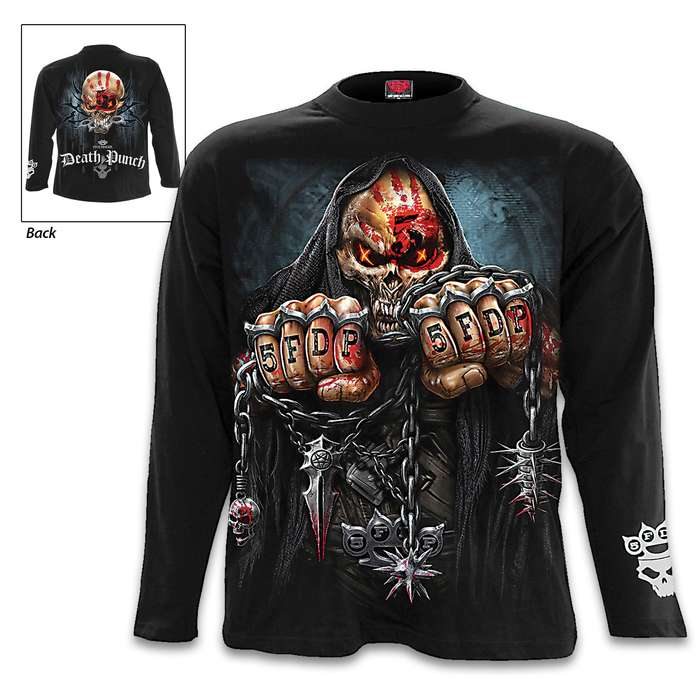 5FDP Game Over Black Long-Sleeve T-Shirt - Original Artwork, Front And Back, Jersey Material, Skin Friendly Dyes