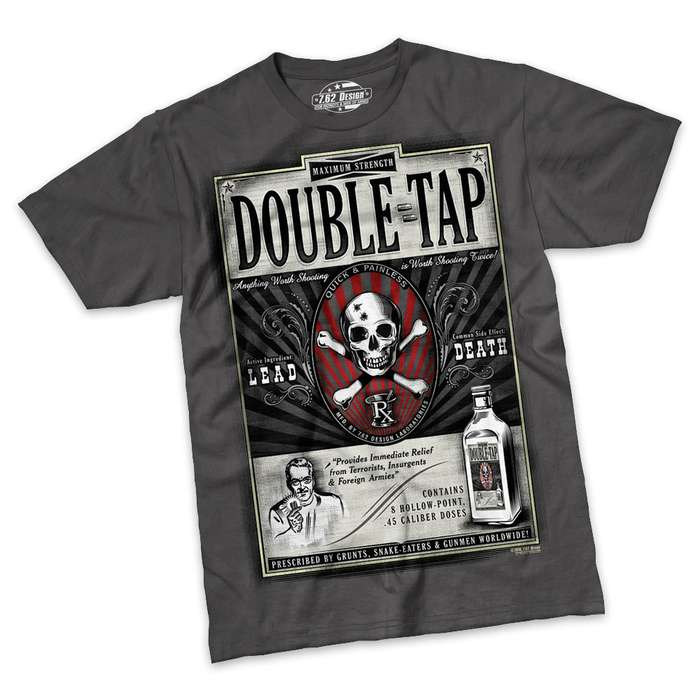Double Tap Charcoal Short Sleeve Shirt