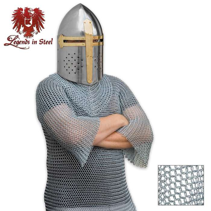 18 Gauge Chain Mail Shirt for Middle Ages Knight