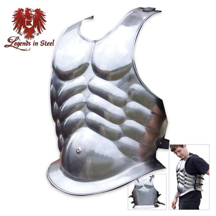 Legends in Steel Middle Ages Muscled Front & Back Cuirass Armor