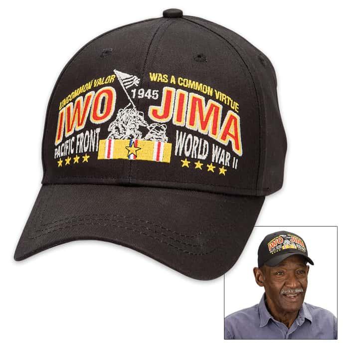 Double Down Black Iwo Jima Cap - Hat