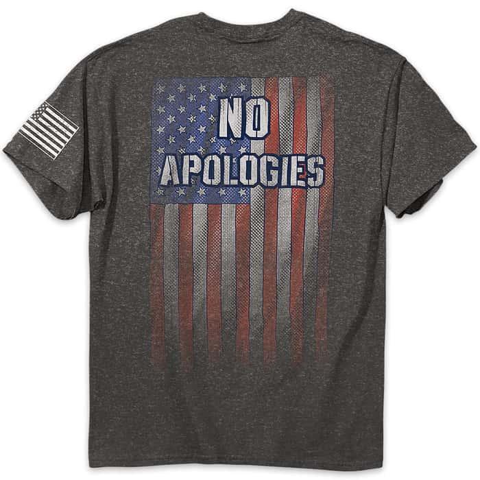 No Apologies Men's Charcoal Heather T-Shirt