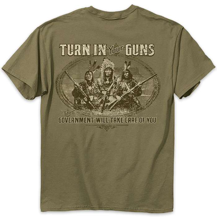 Buckwear Turn In Your Guns Olive Drab T-Shirt