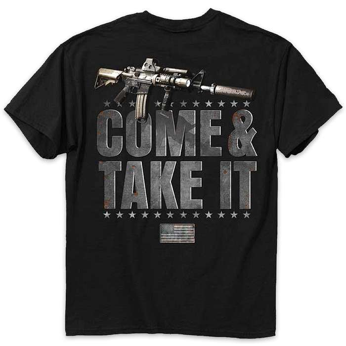 Buckwear Come And Take It Black T-Shirt