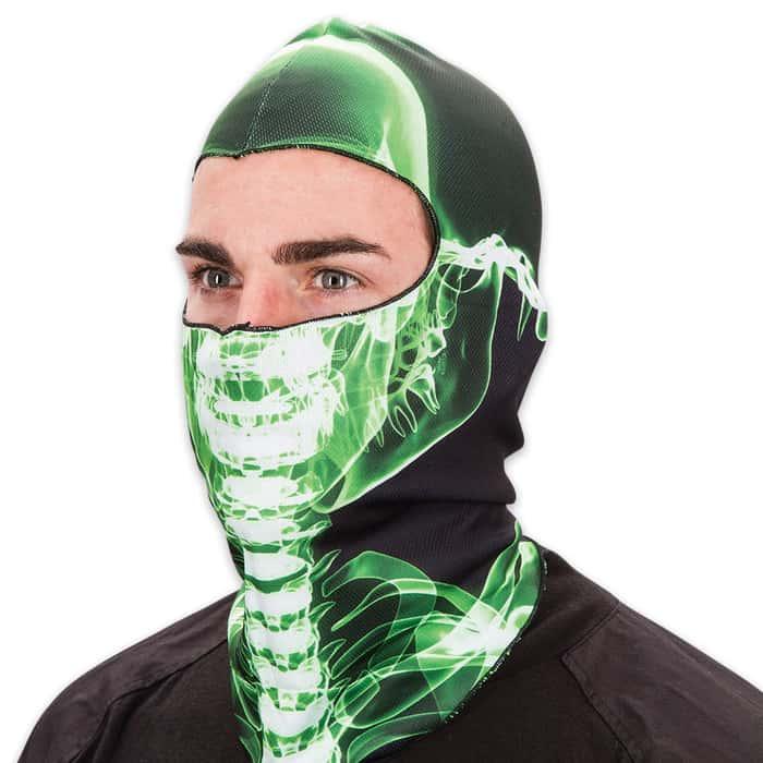 X-Ray Skull Fleece Face Mask - Lightweight