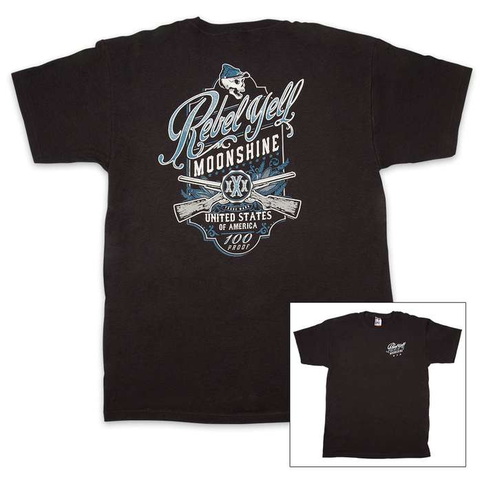 Rebel Yell Moonshine Black T-Shirt