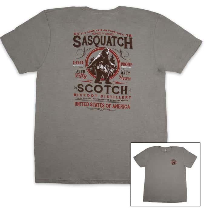Sasquatch Scotch Heather Gray T-Shirt