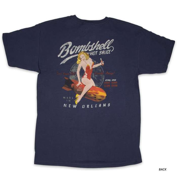 Bombshell Hot Sauce Midnight Blue T-Shirt