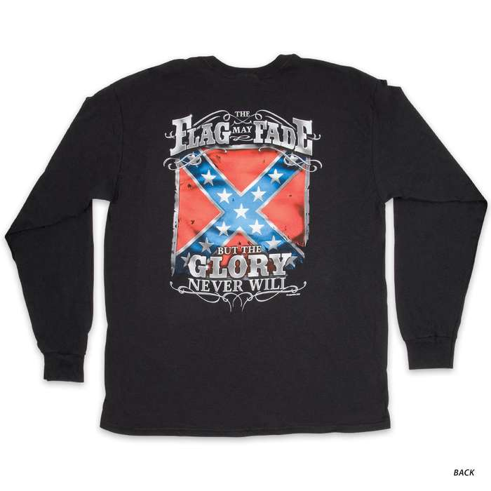 Rebel Glory Flag T-Shirt - Long-Sleeve
