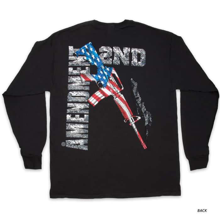 AR-15 Second Amendment Flag T-Shirt - Long-Sleeve