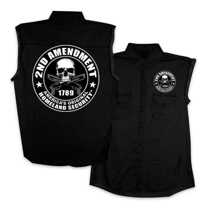 2nd Amendment Sleeveless Black  Vest